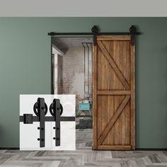 Homlux - Sliding Door Kits - Touch of Modern Indoor Sliding Doors, Sliding Door Hardware, Barn Style Doors, Barn Doors, Cement Walls, Door Kits, Door Accessories, Door Stop, Rustic Feel