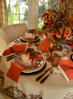 Beautiful Fall Tablescape featuring Spode Delamere!!