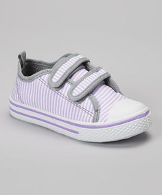 Loving this Lilac Stripe Sneaker on #zulily! #zulilyfinds
