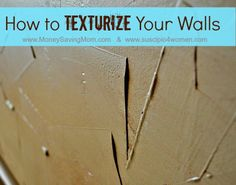 Do-It-Yourself: How to Texturize Your Walls | Money Saving Mom®