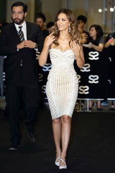 The 50 Best Little White Dresses: Jessica Alba in Zuhair Murad