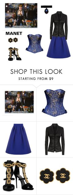 """Manet Inspired"" by scolab ❤ liked on Polyvore featuring Oasis, La Perla, Giuseppe Zanotti and Chanel"