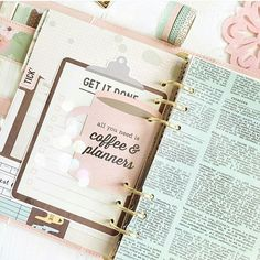 Sharing this planner layout from Miss @imvintagerose's account, where she is rocking TheResetGirl Carpe Diem planner and accessories. See that cute Get it Done clipboard? If you laminate it you can use a wet erase pen and resuse it daily! How fun is that?@simplestories_ did a fantastic job bringing this beautiful collection to life and I am so excited to start shipping it out this week and into your hands! Love love love all this planner goodness and just a reminder that preorder TRG…
