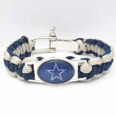 Dallas Cowboys Football Paracord Bracelet - Show off your teams colors! Cutest Love Dallas Cowboys Bracelet on the Planet! Don't miss our Special Sales Event. Many teams available. www.DilyDalee.co
