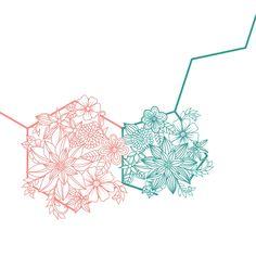 Serotonin floral zentangle tattoo design. Pursuit of happiness. IG: @rumdesigns