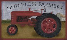 TRACTOR GOD BLESS FARMERS BETH ALBERT