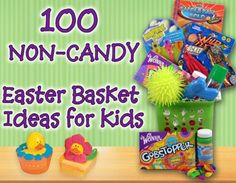 100 Non-Candy Easter Basket ideas for kids. http://www.mojosavings.com/100-non-candy-easter-basket-filler-ideas/