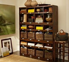 Olivia Cubby - Tuscan Chestnut stain | Pottery Barn