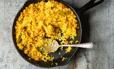 A staple dish, great with steak, chicken, BBQ, or fish.  I used to buy the packaged yellow rice, but not any more.