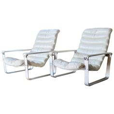 Asko Pulkka Leather Lounge Chairs by Ilmari Lappalainen, Finland, 1960s 1