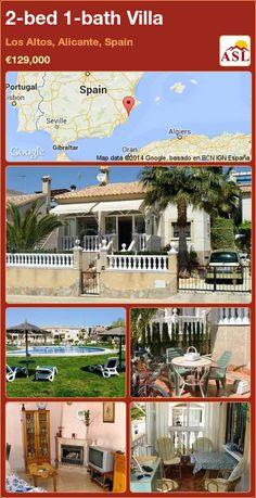 2-bed 1-bath Villa in Los Altos, Alicante, Spain ►€129,000 #PropertyForSaleInSpain