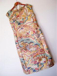 Kimono Fabric, Kimono Dress, I Dress, Japanese Sewing, Japanese Fabric, Japanese Fashion Designers, Kimono Design, Kimono Fashion, Vintage Costumes