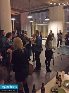 Members of the Latvian startup community indulge in food, beer, wine, and fun games at The Mill's party on February 27th. The ping pong table was a big hit!  ZoomCharts http://www.zoomcharts.com The world's most interactive data visualization software  #zoomcharts #interactive #data #datavisualization #charts #graphs #bigdata #dataviz #TheMill #MillRīga #uxriga #pingpong #startups #Latvia #Rīga #party