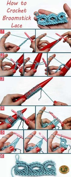 How to Crochet Broom Stick Lace Step By Step Guide with Pictures