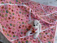Ribbon quilting with cupcake fabric looks great