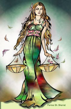 Found this representation of Lady Libra on the web. Thinking of incorporating it into a large back tattoo with wings and a quote~