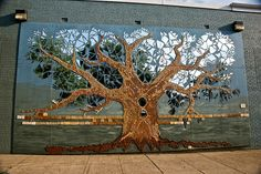 huge wall mosaic of a yume tree