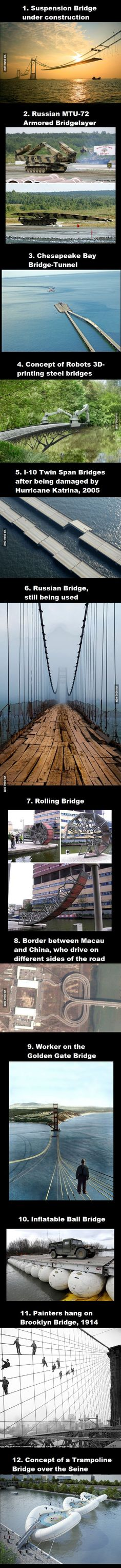 Collection of interesting pictures I found over the years, Part 32: Bridges