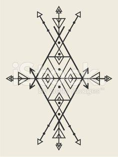 Vector Tribal Banner Illustration cliparts vectoriels libres de droits