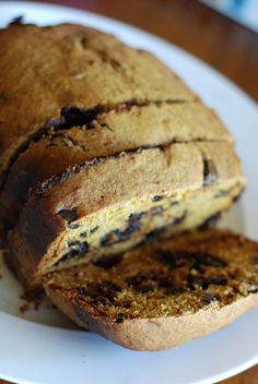 Pumpkin chocolate chip bread using bread maker
