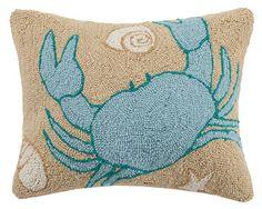 Sandy Crab Hook Pillow