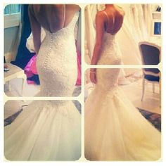 Stevn Khalil Mermaid Lace/Tulle Wedding Dress - $225 again...this NEEDS to be my future dress... I am obsessed