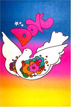 """Skot Foreman Gallery (vintage) Peter  Max """"Dove"""" 1968 Print Hand-signed lithograph    36 x 24 in  91 x 60 cm"""