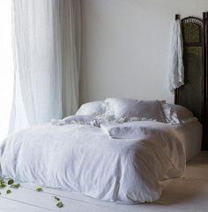 All in White: Bella Notte - Vivianne  Linen Whisper Scarf, Linen Whisper Curtains #white #whiteonwhite #home #decor #bedding #bellanotte http://www.bellanottelinens.com