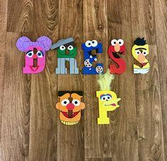 Sesame Street Wooden Letters Big Bird Elmo Oscar the