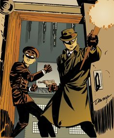 """The Green Hornet & Kato"" by Darwyn Cooke & Bruce Timm Comic Book Artists, Comic Book Characters, Comic Artist, Comic Character, Comic Books Art, Bruce Lee, Bruce Timm, Alex Ross, Marvel Dc"