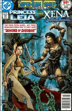 Super-Team Family: The Lost Issues!: Princess Leia and Xena: Warrior Princess Marvel Comic Books, Comic Book Heroes, Comic Books Art, Dc Comics, Star Wars Comics, Xena Warrior Princess, Princess Leia, Caricature, Marvel And Dc Crossover