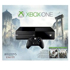 Xbox One 500GB Console Bundle with Assaasin's Creed Unity and Black Flag