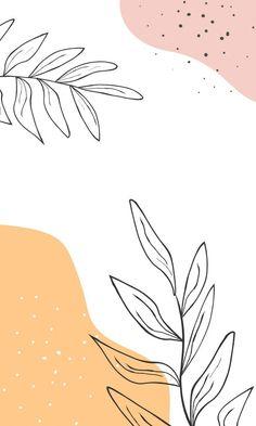 Trendy phone wallpaper design Premium Ve... | Premium Vector #Freepik #vector #hand #leaf #hand-drawn #leaves Phone Wallpaper Design, Phone Wallpaper Images, Iphone Wallpaper Tumblr Aesthetic, Cute Patterns Wallpaper, Iphone Background Wallpaper, Aesthetic Pastel Wallpaper, Designer Wallpaper, Aesthetic Wallpapers, Phone Wallpapers