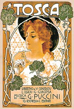 Tosca.  Première on January 14, 1900 at the Teatro Costanzi in Rome.