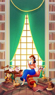Artworks I made for Disney WonderGround Gallery. All artwork is property of Disney. Disney Fan Art, Disney Pixar, Disney E Dreamworks, Disney Nerd, Disney Films, Disney Animation, Walt Disney, Disney Princess Belle, Princesa Disney Bella