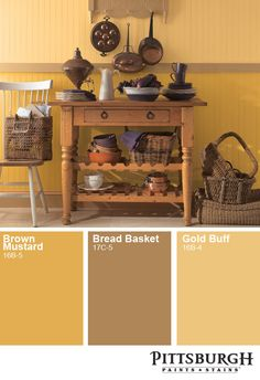 Rich Warm Yellows Pair Pleasantly With Brown Rattan Or Pinewood Farmhouse Paint Colors