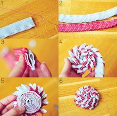 DIY: broche en fleur double de feutrine