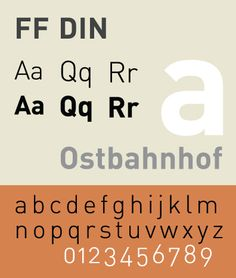 FF DIN is a realist sans-serif typeface designed in 1995 by Albert-Jan Pool, based on DIN-Mittelschrift and DIN-Engschrift, as defined in the German standard DIN 1451.[1] DIN is an acronym for Deutsches Institut für Normung (German Institute of Standardisation). Posters for the film The Wolf of Wall Street use FF DIN.