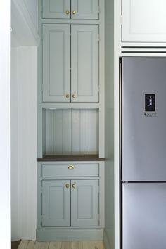 Shaker Kitchen, Kitchen Pantry, Kitchen Dining, Kitchen Cabinets, Brighton Houses, Closet Built Ins, Home Kitchens, Tall Cabinet Storage, Kitchen Remodel