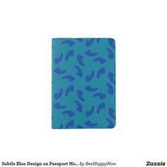 Subtle Blue Design on Passport Holder