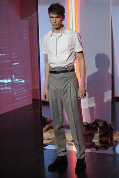 Jean Paul Gaultier Men's RTW Fall 2013 - Box pleated pants!
