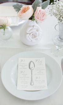 Spoon Menu Wedding Card