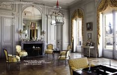 French Style: Tall Mirrors and Paneled rooms