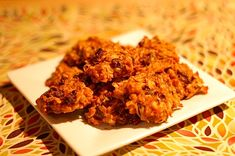 Sweet Potato Oatmeal Raisin Cookies - I'm making these right now, but with cranberries instead of raisins!