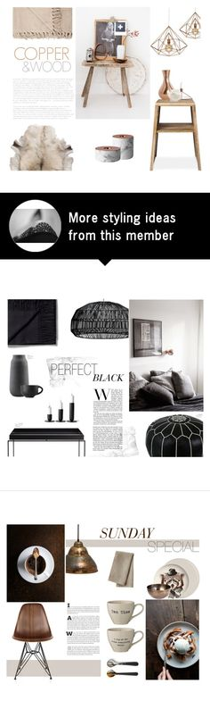 """""""Copper & Wood"""" by nmkratz on Polyvore featuring interior, interiors, interior design, home, home decor, interior decorating, Menu, House Doctor and Dot & Bo"""