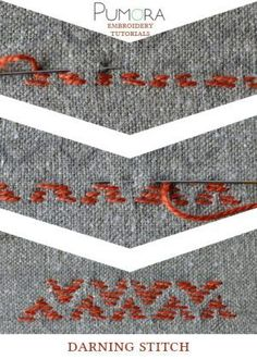 darning stitch tutorial