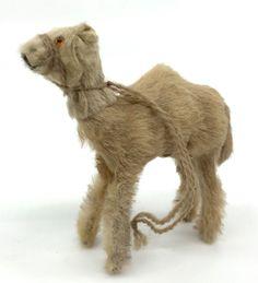 Original Fur Toys #Camel Dromedary Figure Nativity Putz 3in Label 1950s W Germany #OriginalFurToys