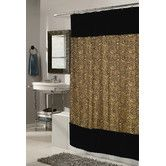 Found it at Wayfair - Animal Instincts Polyester Sable Faux Fur Trimmed Shower Curtain