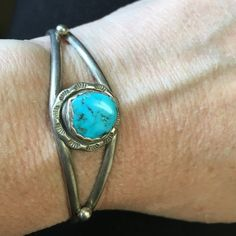 Sterling silver with turquoise bracelet Sterling silver with turquoise bracelet Jewelry Bracelets