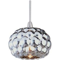 "Check out the ET2 EP96012-55SN Minx 3"" 1 Light Pendant in Satin Nickel Homeclick.com."